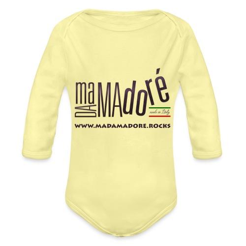Sacca - Logo Standard + Sito - Body ecologico per neonato a manica lunga