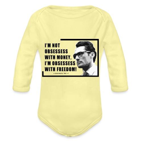 I m not obsessess with money - Body ecologico per neonato a manica lunga