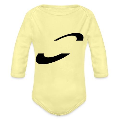 Planet Cycling Icon Black - Organic Longsleeve Baby Bodysuit