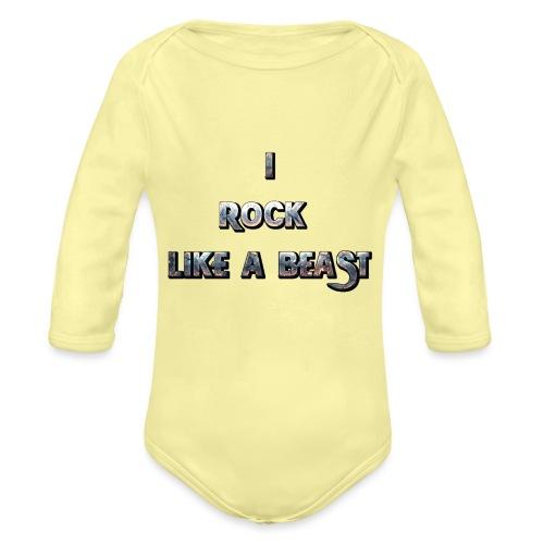 IROCKLIKEABEAST Big png - Ekologisk långärmad babybody