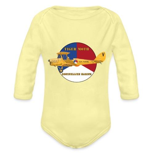Tiger Moth Kon Marine - Organic Longsleeve Baby Bodysuit