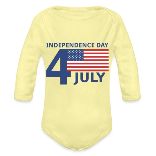 4th of July. 4 luglio - Body ecologico per neonato a manica lunga
