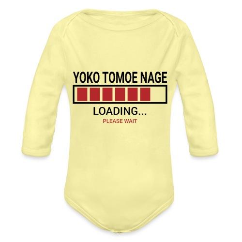 Yoko Tomoe Nage Loading... Pleas Wait - Ekologiczne body niemowlęce z długim rękawem