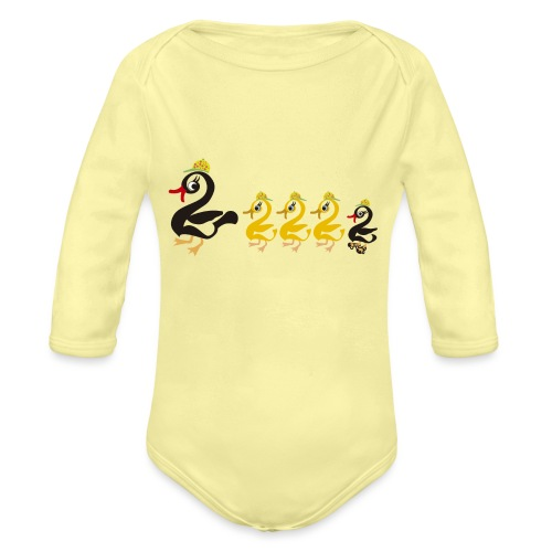 mama_pata patito_feo hijos_lindos_de_mamá - Body orgánico de manga larga para bebé