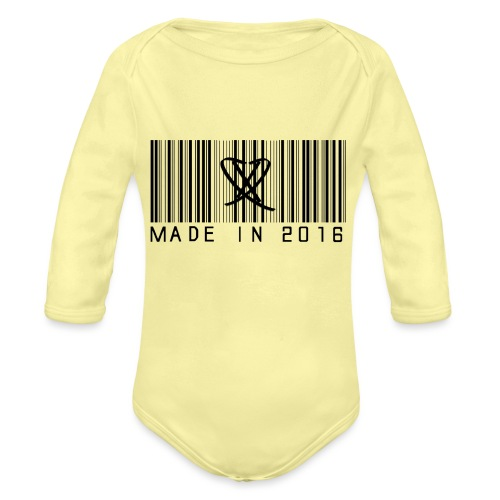 Made in 2016 Tee - Langærmet babybody, økologisk bomuld