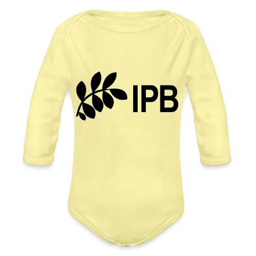 IPB version 3 black - Organic Longsleeve Baby Bodysuit