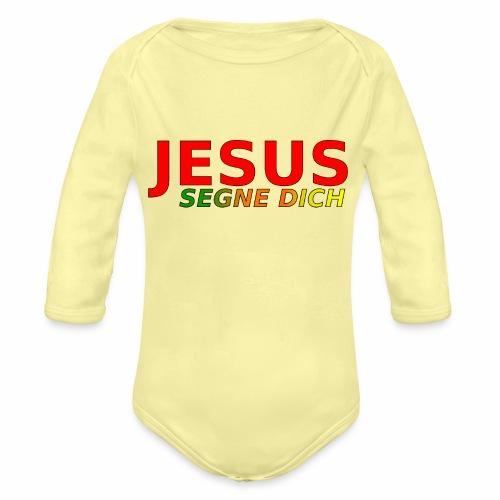 JESUS segne dich - bunt - Baby Bio-Langarm-Body