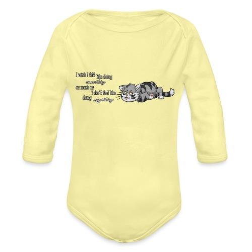 I Wish I Felt Like... (Horizontal) - Ekologiczne body niemowlęce z długim rękawem