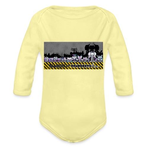 #MarchOfRobots ! LineUp Nr 2 - Langærmet babybody, økologisk bomuld