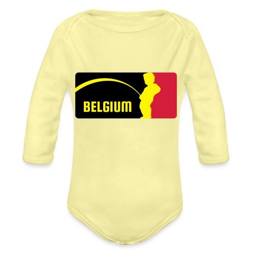 Mannekke Pis, Belgium Rode duivels - Belgium - Bel - Body Bébé bio manches longues