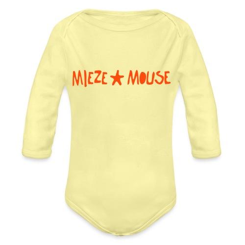 MIEZEMOUSE STAR - Baby Bio-Langarm-Body