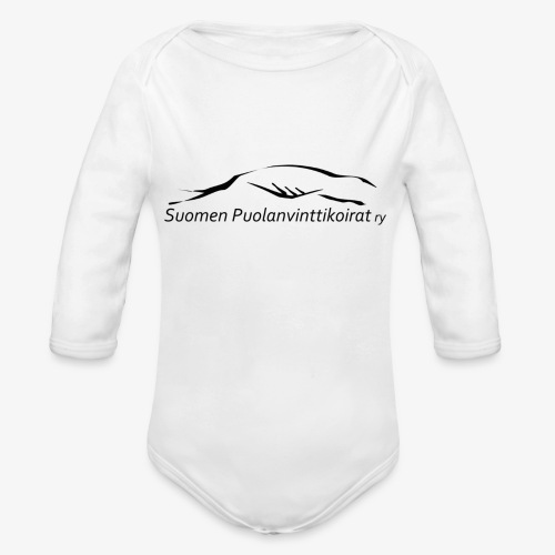 SUP logo musta - Vauvan pitkähihainen luomu-body