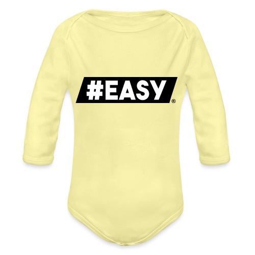 #EASY Classic Logo T-Shirt - Body ecologico per neonato a manica lunga