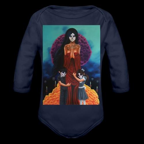 los fieles difuntos - Organic Longsleeve Baby Bodysuit