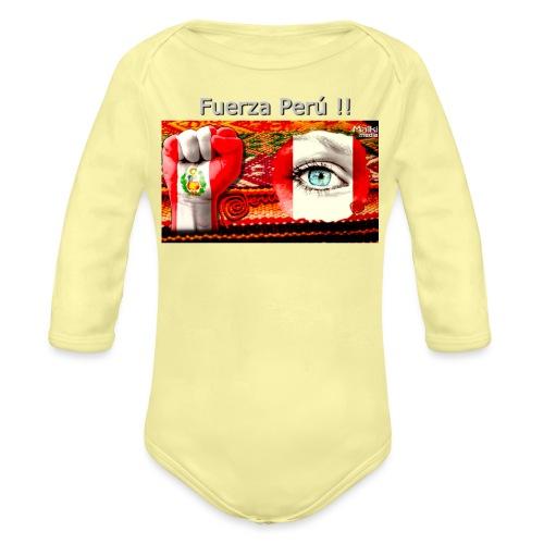 Telar Fuerza Peru I - Body orgánico de manga larga para bebé