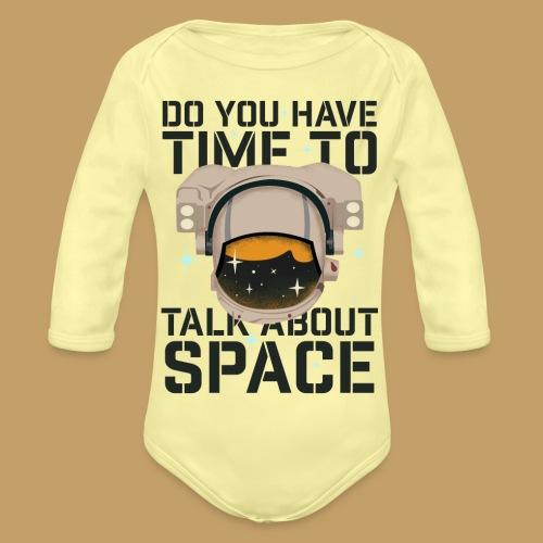 Time for Space - Ekologiczne body niemowlęce z długim rękawem