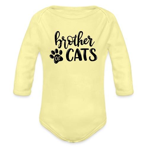 Brother of cats - Baby Bio-Langarm-Body