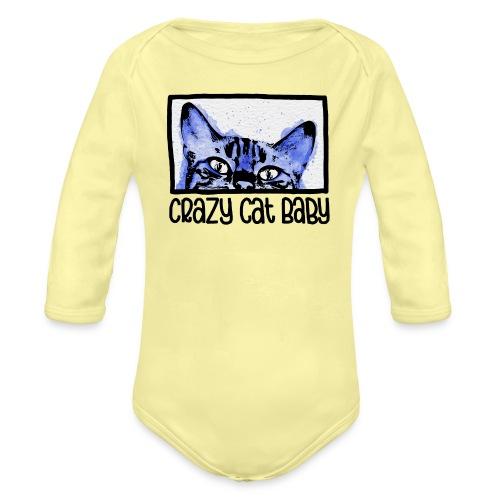Crazy Cat Baby Boy - Baby Bio-Langarm-Body