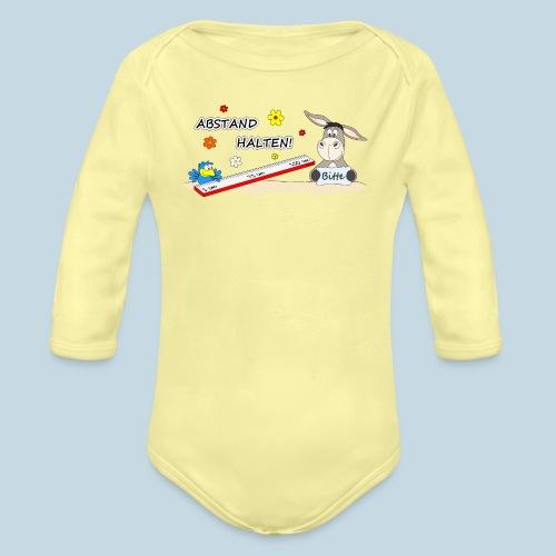 Abstand halten - Baby Bio-Langarm-Body