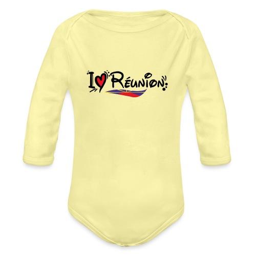 i love Réunion - MAHAVELI - Body Bébé bio manches longues