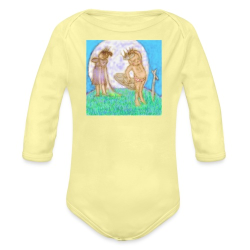 Arthur & Guinevere.. before things got complicated - Organic Longsleeve Baby Bodysuit
