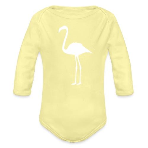 Flamingo - Baby Bio-Langarm-Body