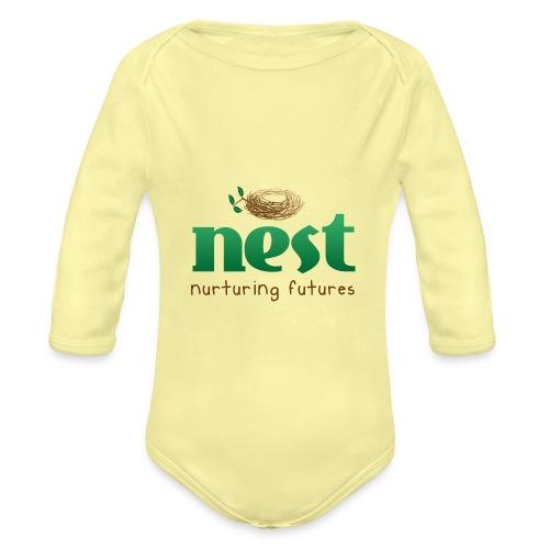 Nest Nurturing Futures Branded Items - Organic Longsleeve Baby Bodysuit
