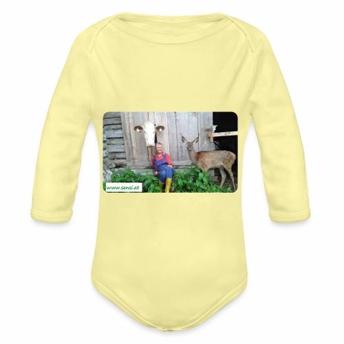 SenSi ♥ Hilfsprojekt für Kühe - Baby Bio-Langarm-Body