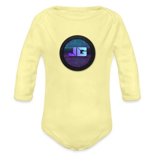 shirt met logo - Baby bio-rompertje met lange mouwen