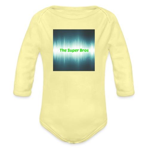 The Super Bros - Fan Bamse - Langærmet babybody, økologisk bomuld