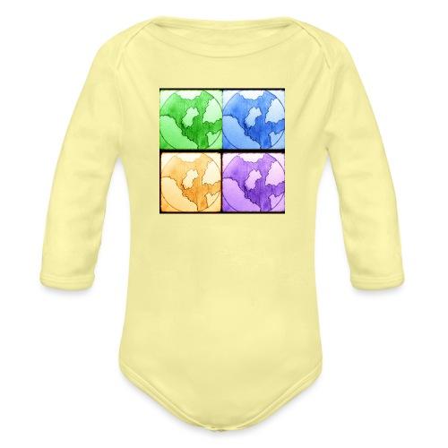 Worlds - Langærmet babybody, økologisk bomuld