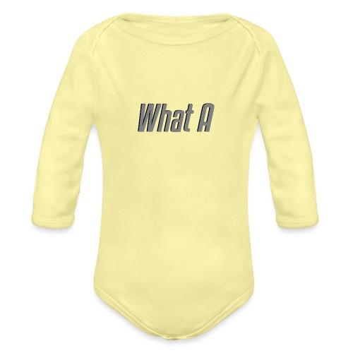 What A - Mug - Organic Longsleeve Baby Bodysuit