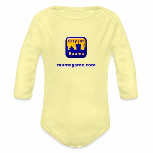 Raumagame logo - Vauvan pitkähihainen luomu-body