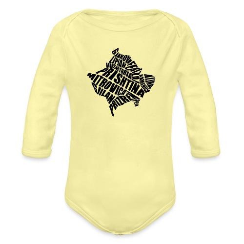 Kosovo Land mit allen Städten - Baby Bio-Langarm-Body