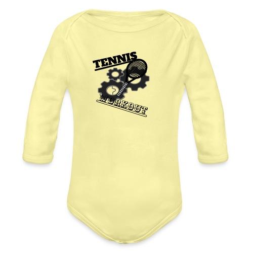 TENNIS WORKOUT - Organic Longsleeve Baby Bodysuit