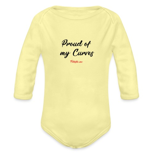 Proud of my Curves by Fatastic.me - Organic Longsleeve Baby Bodysuit