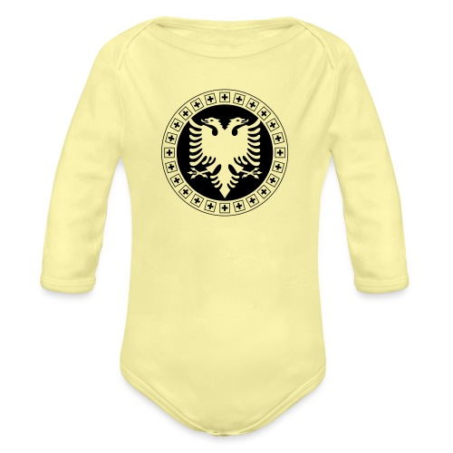 Albanien Schweiz Shirt - Baby Bio-Langarm-Body