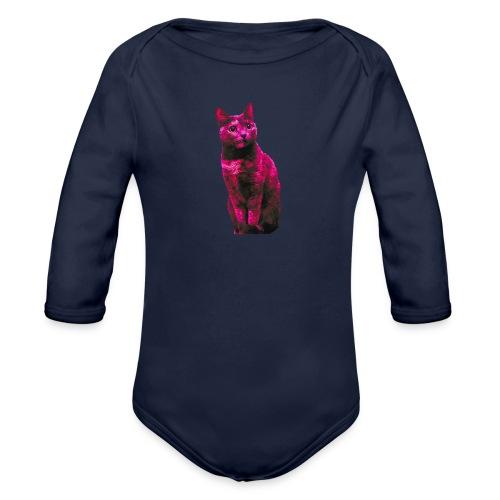 Gatto - Body ecologico per neonato a manica lunga