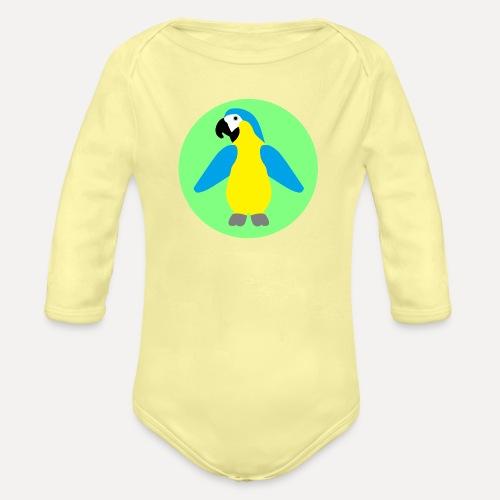 Yellow-breasted Macaw - Organic Longsleeve Baby Bodysuit