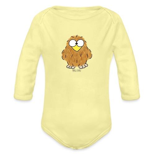 Niki Owl - Organic Longsleeve Baby Bodysuit