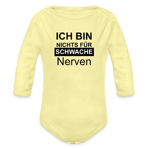 1002 sw - Baby Bio-Langarm-Body