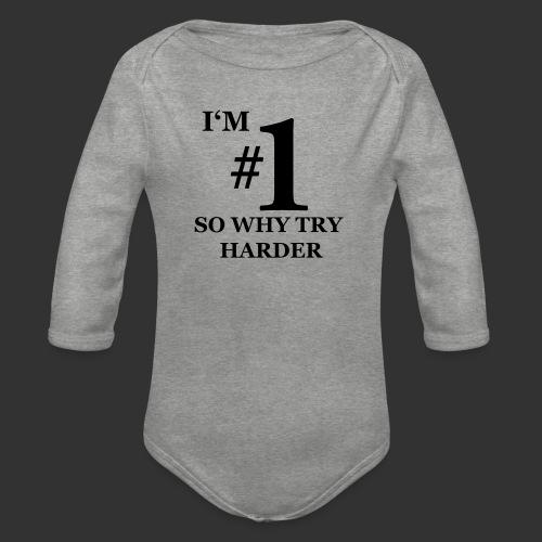 T-shirt, I'm #1 - Ekologisk långärmad babybody