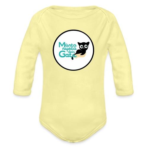 La Muntanyeta dels Gats Logo - Body orgánico de manga larga para bebé