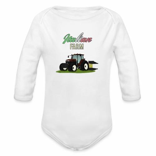 Italian Farm official T-SHIRT - Body ecologico per neonato a manica lunga