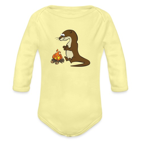 Song of the Paddle; Quentin campfire - Organic Longsleeve Baby Bodysuit