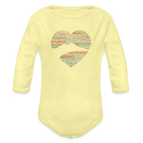 I Luoghi di Napoli di CuordiNapoli - Body ecologico per neonato a manica lunga