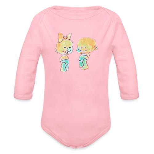 Bambini innamorati - Body ecologico per neonato a manica lunga