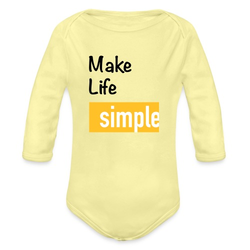 Make Life Simple - Body Bébé bio manches longues