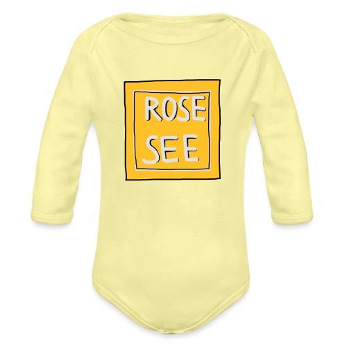Logo voor druk op textiel - Baby bio-rompertje met lange mouwen
