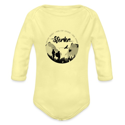 STERKR - Fjordview - Organic Longsleeve Baby Bodysuit